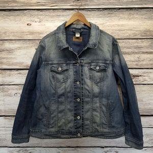 Levis Jean Jacket Blue Denim Stone Wash